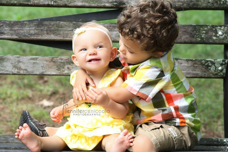 AJ & Olivia | Siblings | July 2013 | Summer 2013 | 10 months | 3.5 years old