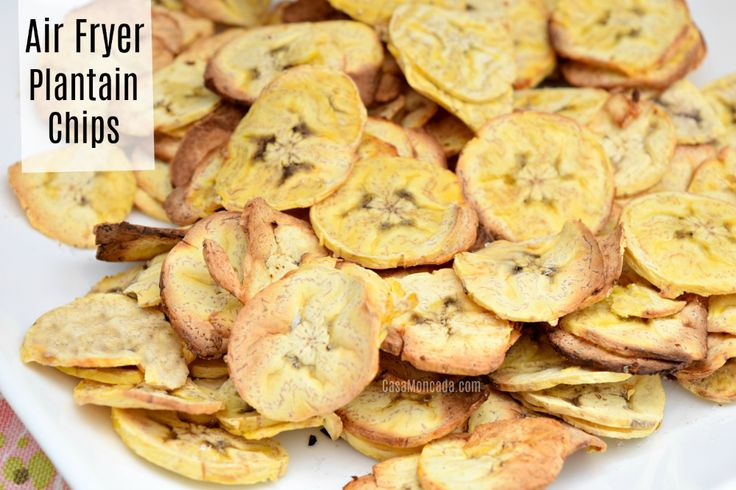Air Fryer Plantain Chips in 2020 Plantain chips, Food