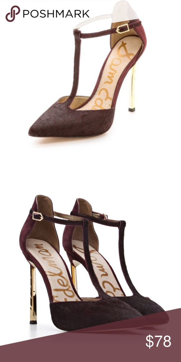 c5818b6a7607db Sam Edelman  Smithfield  Calf Hair T Strap Pump 10 In excellent condition. A  few small flaws. Size 10. These heels are a forgoes work…
