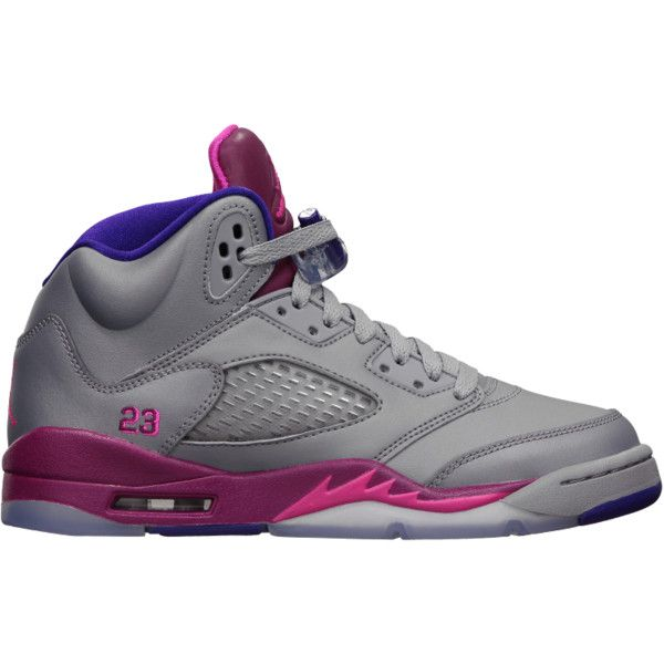 Scarpa Air Jordan 5 Retro Ragazza ($130) ❤ liked on Polyvore featuring shoes and sneakers