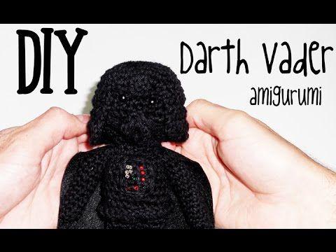 Tutorial amigurumi (crochet, ganchillo) de Darth Vader de Star Wars