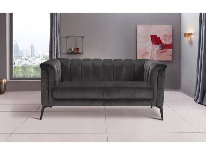 Inosign 2 Sitzer Lomani Im Stilvollem Design Grau Grau Sofa Fort Koinor Sofa 2er Sofa