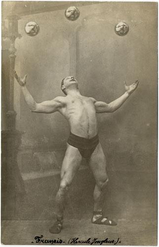 Hercules Juggler - the classic shot of the circus juggler http://www.fiorillobarbellco.com #hercules