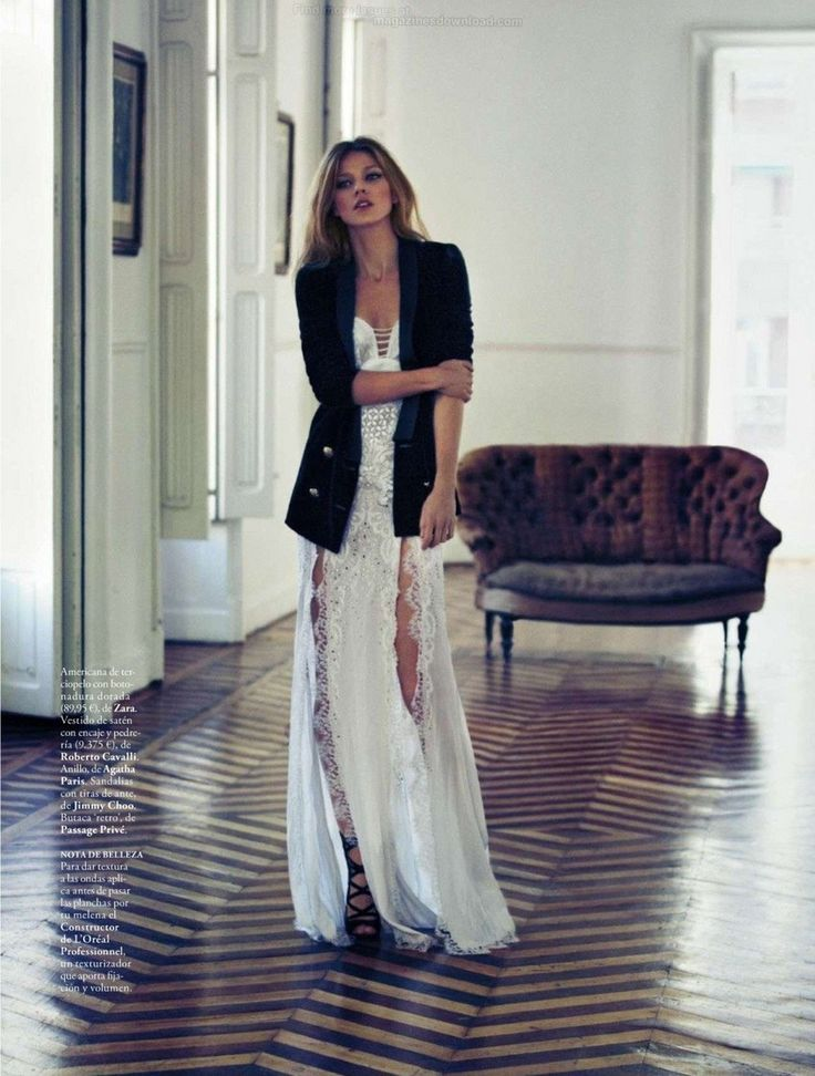 Black and white maxi dress with jacket