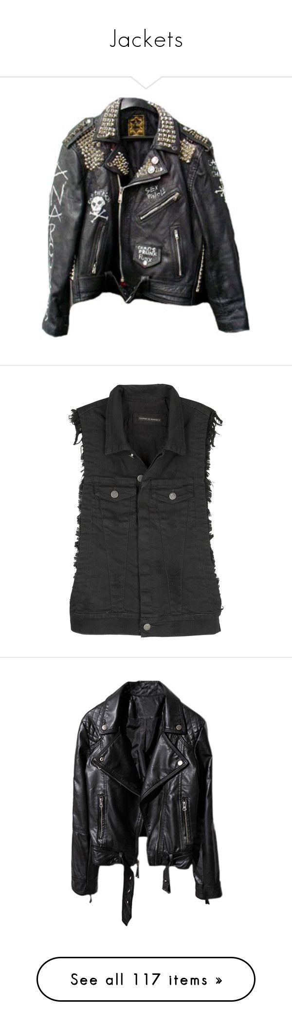 """""""Jackets"""" by jeanettebeatrice ❤ liked on Polyvore featuring jackets, outerwear, tops, coats, vests, vest waistcoat, denim waistcoat, sleeveless vest, denim vests and sleeveless waistcoat"""