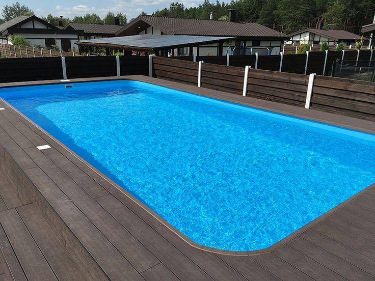 Прямоугольный бассейн Albion Econ pools серии Trend