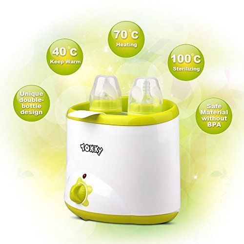 €15,00 (50% Off) on LootHoot.com - TOKKY Chauffe-Biberon Bottle Warmer Chauffe-Repas Lait Nourriture Bébé Double Usage Haute Vitesse Autonome