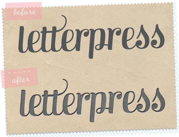 Faking letterpress in Photoshop tutorial