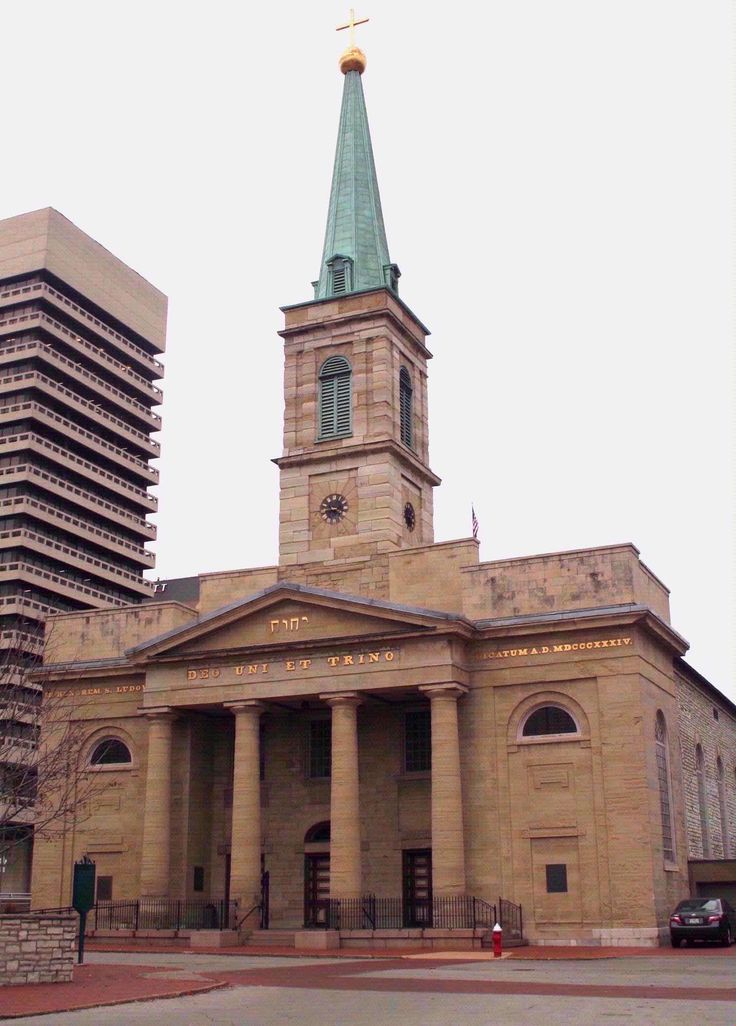 The Old Cathedral - built in 1834 is the oldest cathedral west of the Mississippi.
