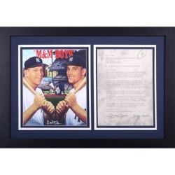 Mickey Mantle New York Yankees Fanatics Authentic Framed Autographed Imagine Entertainment Contract :PSA: