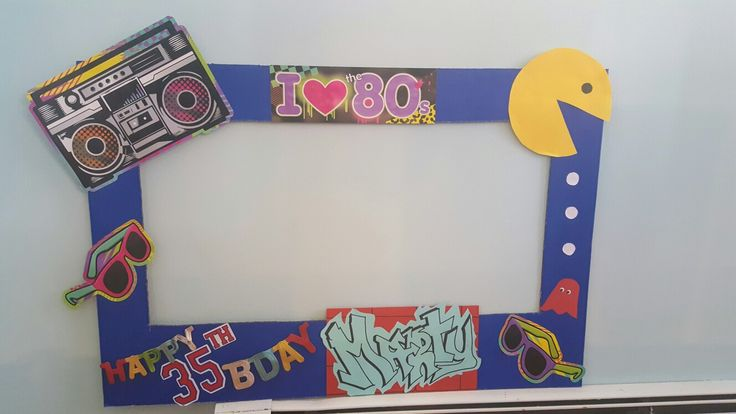 80's Birthday Photo Booth frame