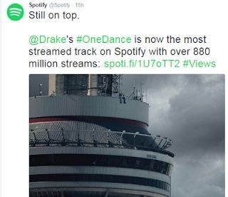 Drake's song 'One Dance' is now Spotify's most streamed song ever with 880 million streams   Whatsapp / Call 2349034421467 or 2348063807769 For Lovablevibes Music Promotion   Spotify one of the worlds leading music streaming sites has announced thatDrake's massive 2016 hit song 'One Dance' is now the most streamed song on its site ever with 880 million streams since its premiere in April 2016.  One Dance overtakes Major Lazers Lean On which was the most streamed song on Spotify with 875…