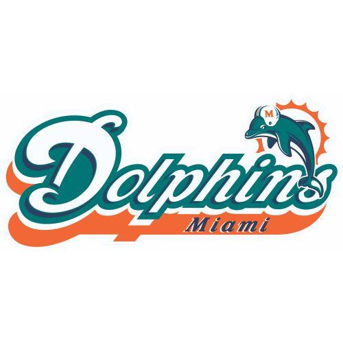 Miami dolphins alternate logo iron on stickers heat transfer