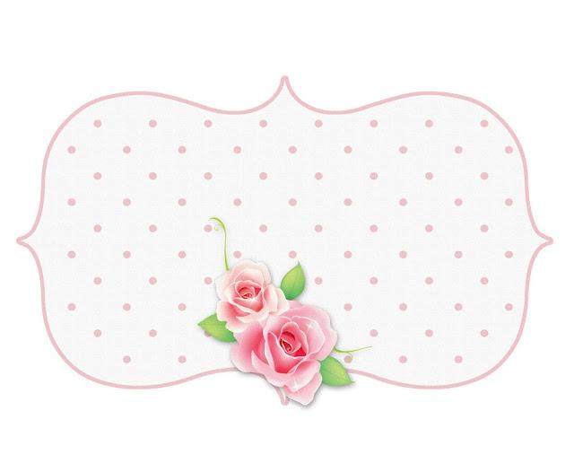 printable image - rose bottom frame