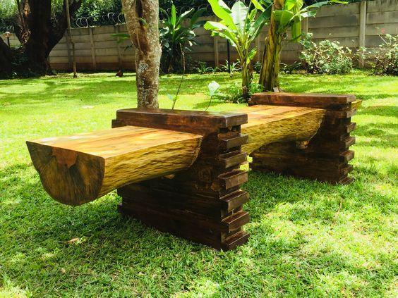 Log Wood Bench Kinanthi Wood Craft Pinterest Craft In