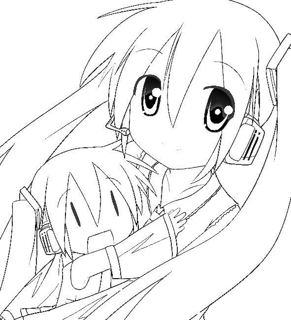 animes para colorir - pesquisa google | anime | pinterest | anime ... - Hatsune Miku Chibi Coloring Pages