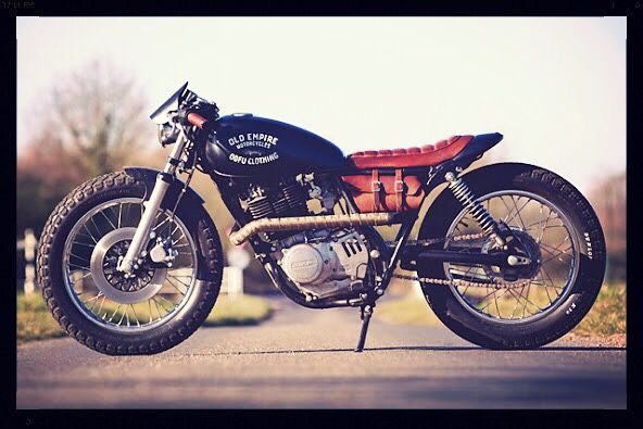 "dgbcustoms: ""Suzuki 1980 GN400 Flat Tracker by Empire Motorcycles "" Not a flat tracker…."
