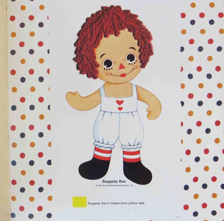 Vtg 1974 Raggedy Ann Andy Circus Paper Dolls Clothes Uncut Nice Condition | eBay