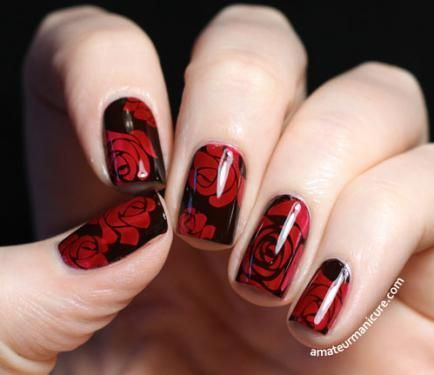 Genius! Learn how to stamp with a jelly over black nail polish!