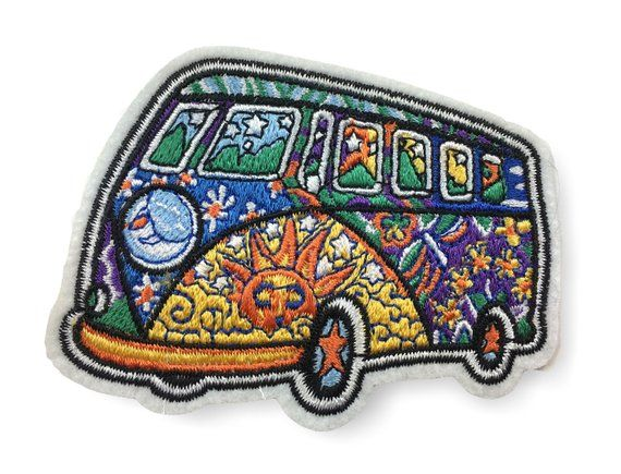 THW Bus Aufbügler Aufnäher Bügelbild Patch Sticker zum aufbügeln auto
