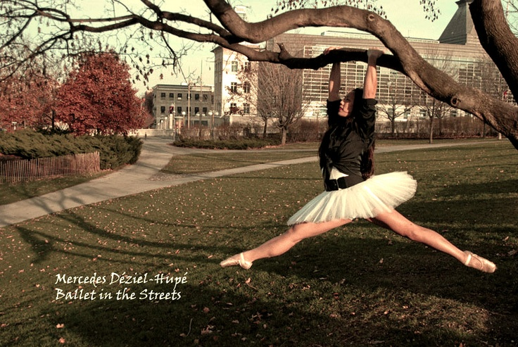 (C) Mercedes Déziel-Hupé  Project: Ballet in the Streets  Fall 2012  Model/dancer: Katherine Ng