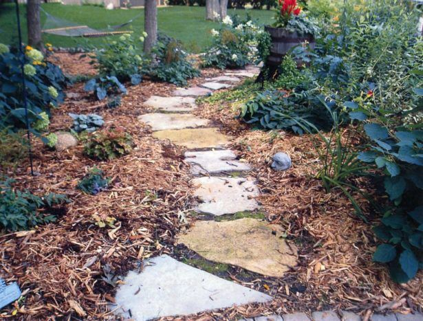 exterior landscape limestone path how to install flagstone walkway how to make flagstone path how to - Flagstone Walkway Design Ideas