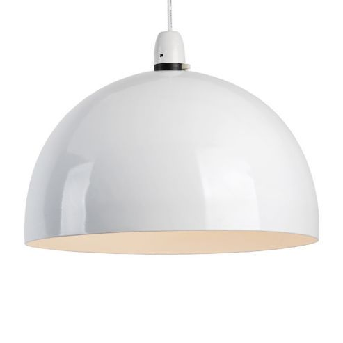 Buy curva dome ceiling pendant light shade white from our easy fit ceiling lights range at tesco direct