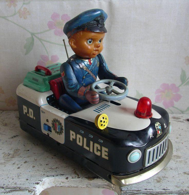 TM MODERN TOYS Japan Mystery Police Car Vintage Battery ...