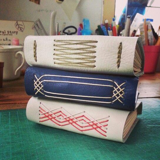 leather handmade books