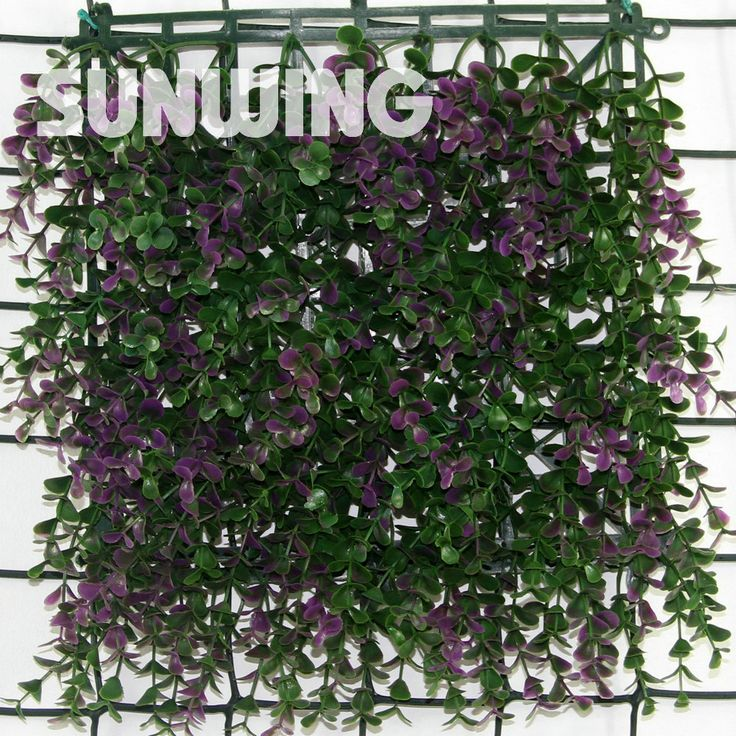 25x25cm Plastic Fencing Mat Decorative Artificial Long Purple Boxwood Hedge Mat Sythenic Garden Grass Fence Garden Ornaments(China (Mainland))