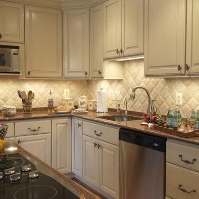 Elegant Traditional Spaces Tile Kitchen Backsplash Country Design Pictures Remodel Decor and Ideas