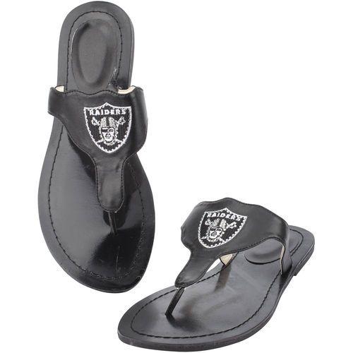 Oakland Raiders Cuce Shoes Women's Team Sandals - Black