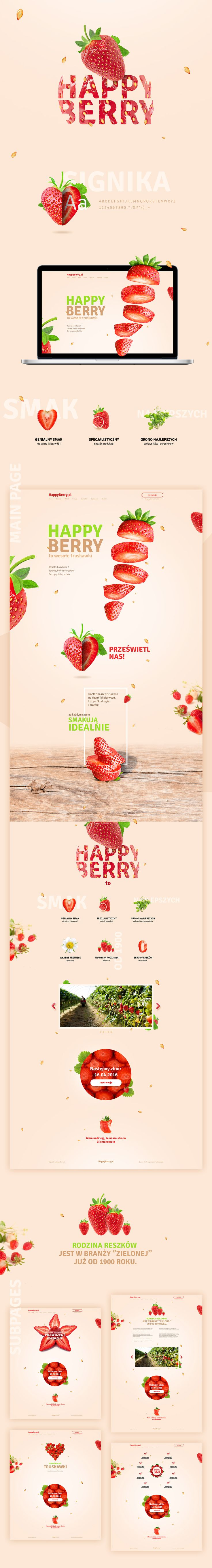 "Confira este projeto do @Behance: ""Strawberry Farm website concept"" https://www.behance.net/gallery/35392021/Strawberry-Farm-website-concept"