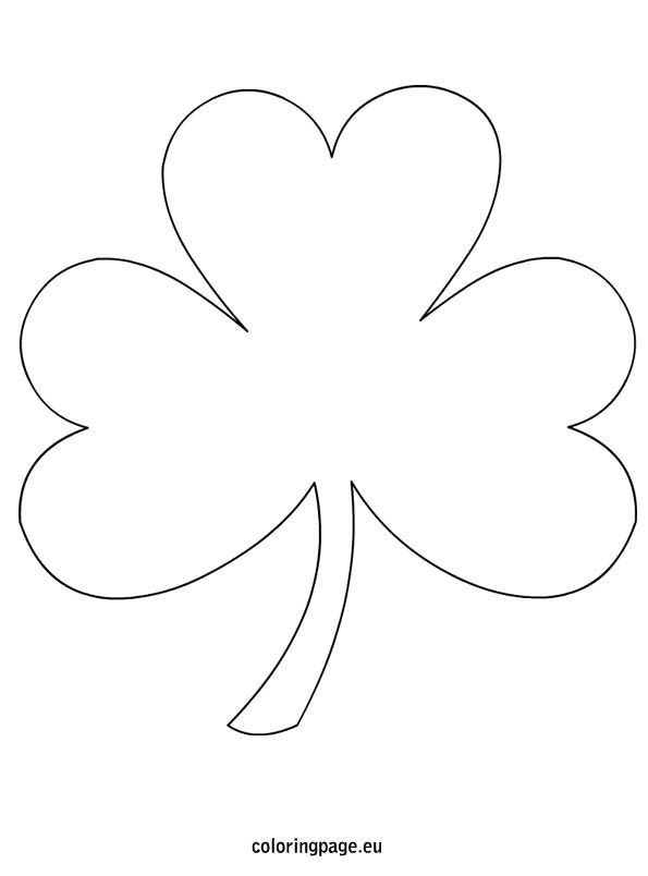 """shamrock-coloring-page free from coloringpage.eu; lots of free shamrock coloring page shapes to print for all those shamrock crafts - just do an internet search for """"shamrock coloring page"""""""