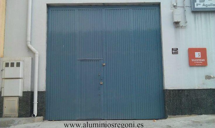 Puerta de chapa pegaso puertas de hierro de garaje - Puertas para garajes ...