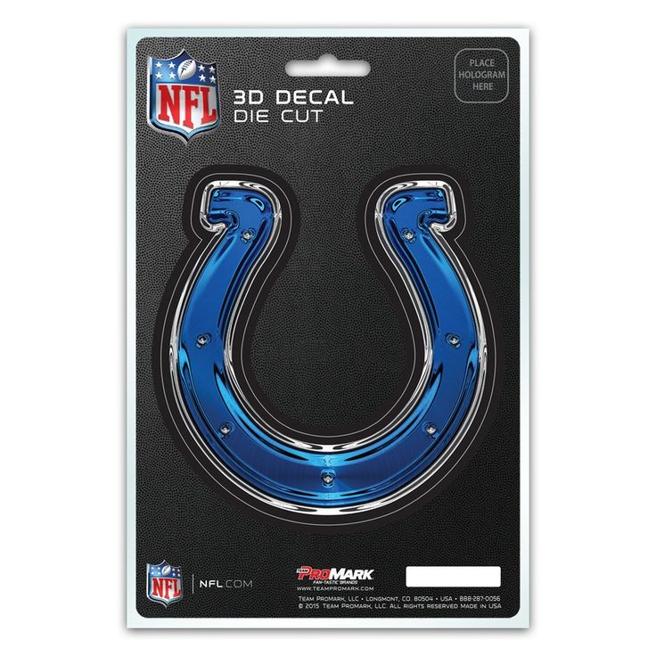 Indianapolis Colts Decal 5x8 Die Cut 3D Logo Design