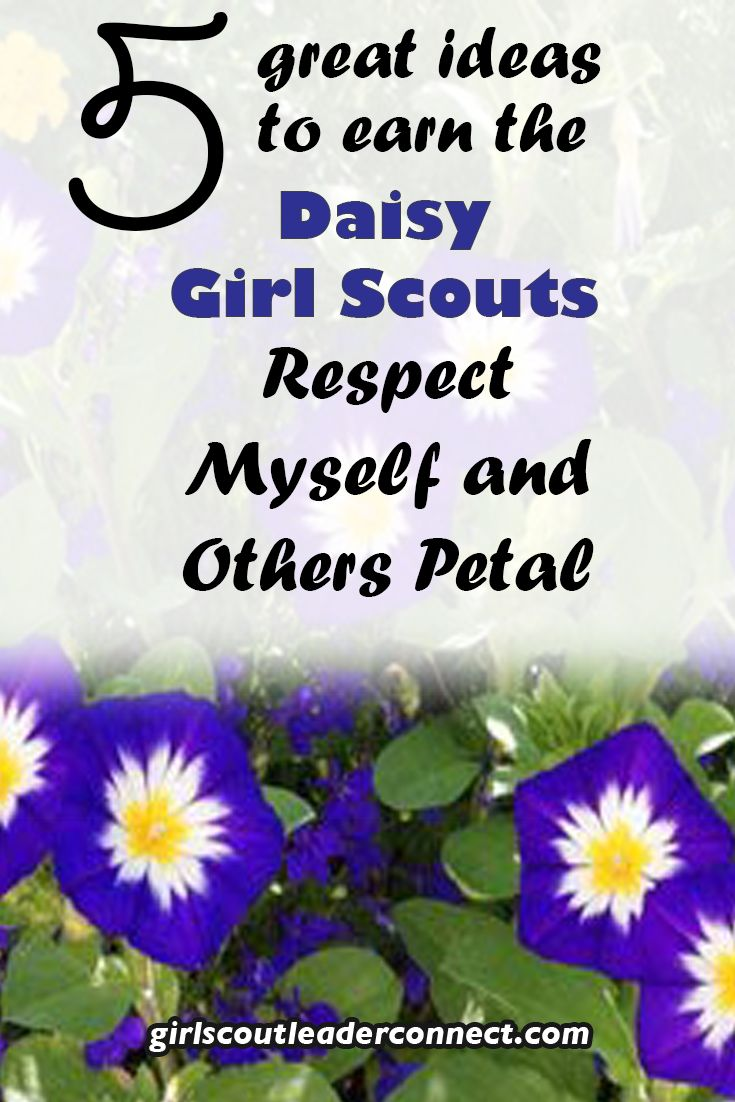 Girl scout scrapbook ideas - 5 Ideas To Earn The Daisy Girl Scout Respect Myself And Others Petal