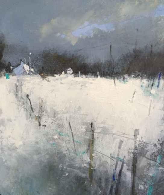 "Hannah Woodman - ""December Snow"" watercolor"