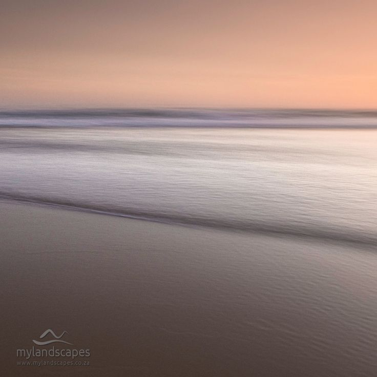 seascape - sunset on sedgefield beach garden route south africa