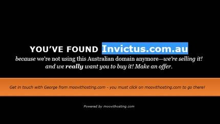 Domain Name for sale invictus.com.au