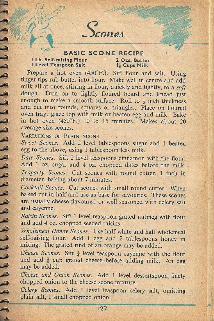 Elle's Luca Designs / (formerly Elle's Kitchen): ※ Vintage Scan - Scone Recipe (1955)