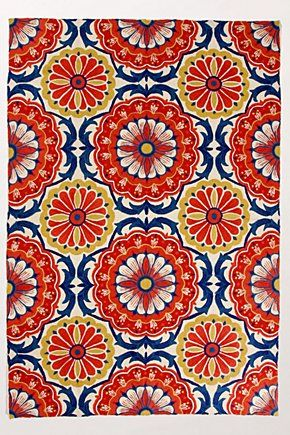 Festival Rug - Anthropologie... love the colors & the pattern