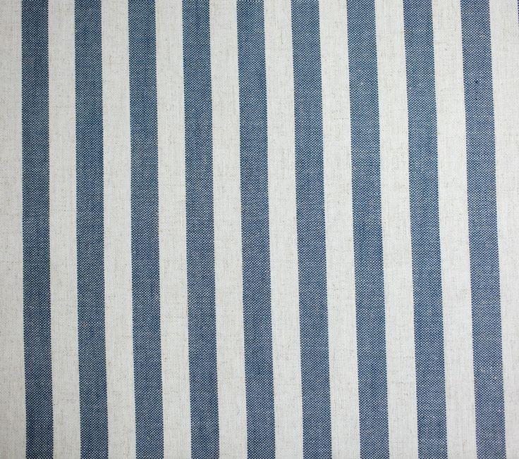 Narrow Stripe Coastal linen www.constantiafabrics.co.za