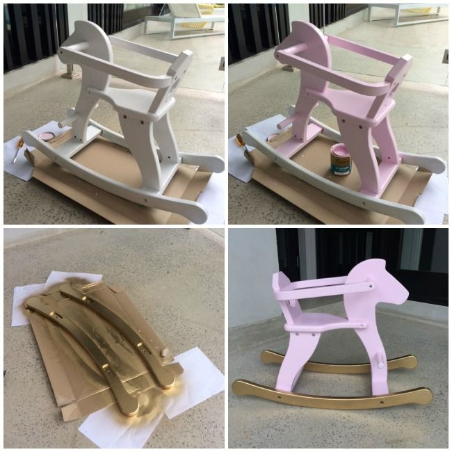 Hand painted rocking horse for Billie