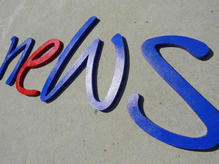 Wand-Deko von PAULSBECK Buchstaben, Dekoration & Geschenke auf DaWanda.com