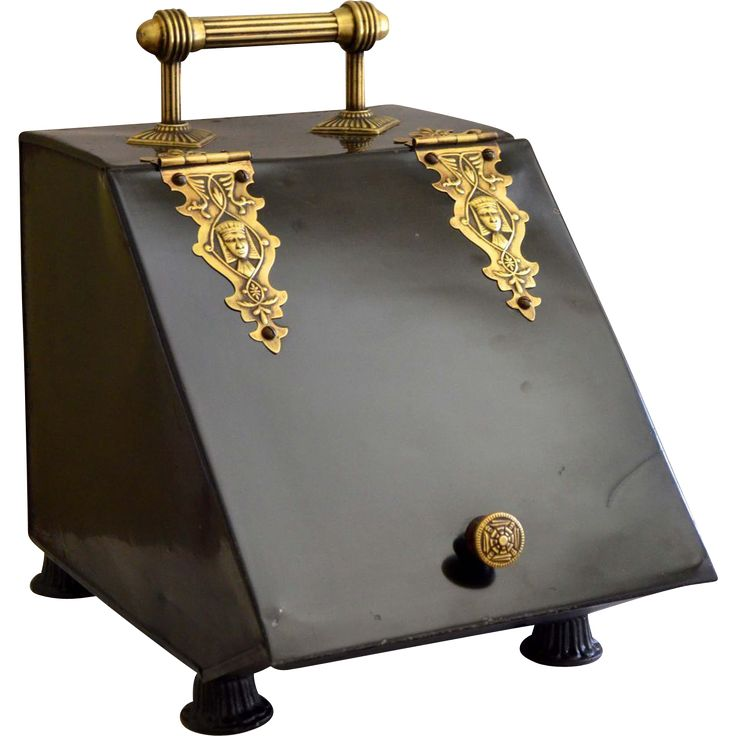 Victorian Era Egyptian Revival Coal Scuttle from vintagelampsandlighting on Ruby Lane
