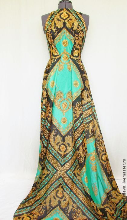 "Батист шелковый ""Византия"" - платье,туника,юбка,блузка,сарафан,топ,нарядный"