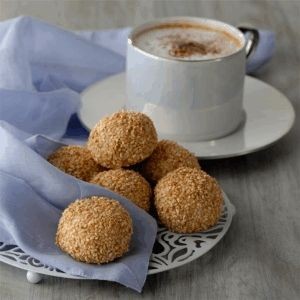 Almond Sesame Balls Recipe_    The Hummus Recipes Kitchen (The home of Hummus Recipes & Delicious Middle Eastern Recipes) invites you to try Almond Sesame Balls Recipe. Enjoy the Middle Eastern Cuisine and learn how to make Almond Sesame Balls.