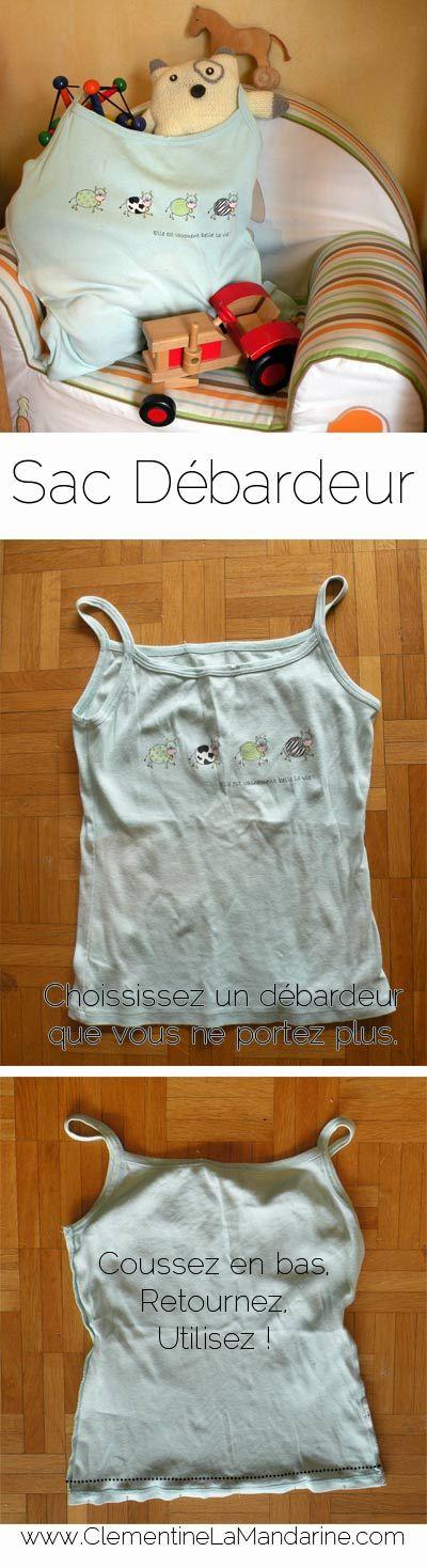 Transformez en 5 minutes un débardeur en sac - Transform in 5 minutes a Tanktop into a shopping bag