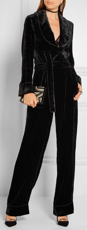 Fendi Black Velvet Jumpsuit | Lovika